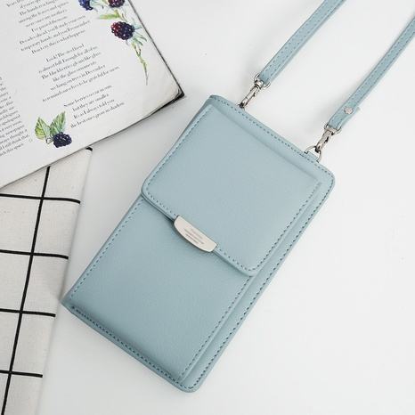 Korean PU long large capacity multi-purpose wallet mini mobile phone bag NHLAN337253's discount tags