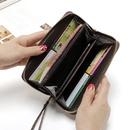 Stone pattern pull wallet zipper bag mobile phone bag  NHLAN337256