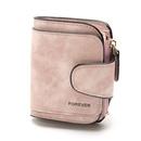 Retro leather ladies wallet short multicard coin purse buckle wallet NHLAN337257
