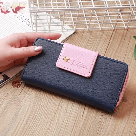 Korean two-fold wallet long zipper mobile phone bag card bag NHLAN337261's discount tags