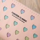 Korean letter hollow heart wallet NHLAN337264