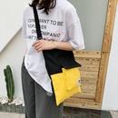 Korean contrast color canvas bag  NHXC337271