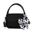 silk scarf bow portable small square bag  NHXC337291