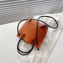 retro contrast color one shoulder messenger bag NHXC337304