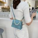 fashion rhombus pearl handle handbag NHXC337305