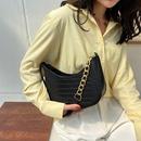 fashion crocodile pattern splicing chain underarm bag NHXC337313