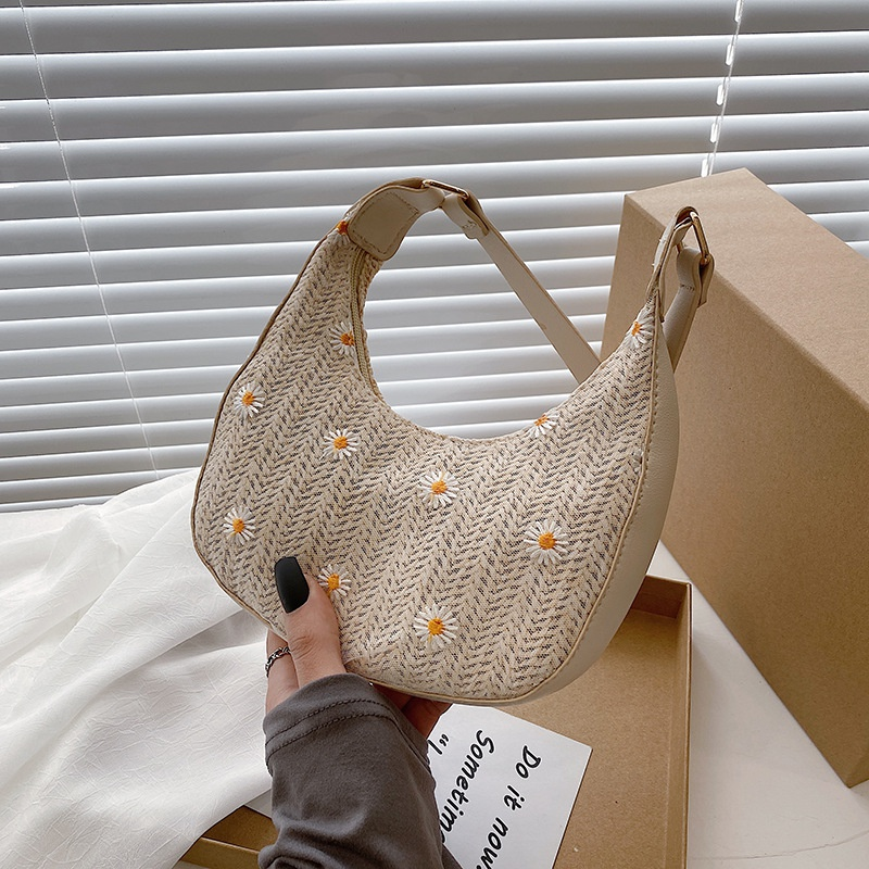 fashion flower woven armpit bag  NHXC337318