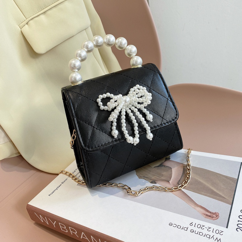 Korean Pearl Bow Oneshoulder Messenger Bag NHXC337328