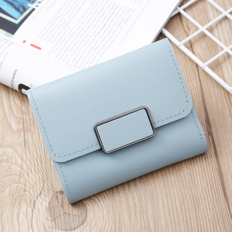 Monedero mini coreano de color sólido NHLAN337342's discount tags