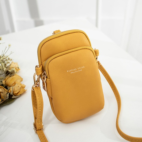 Korean pure color messenger mobile phone bag NHLAN337343's discount tags