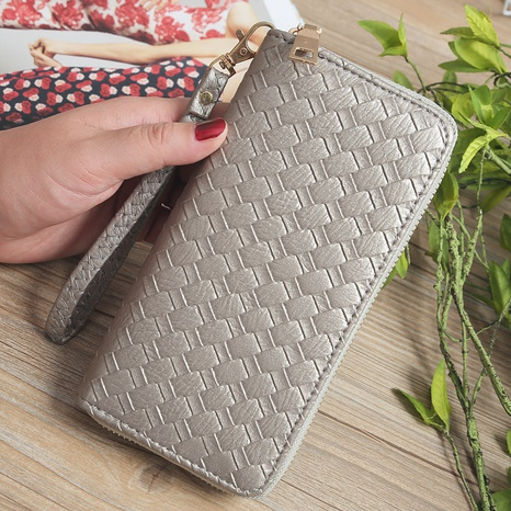 Korean woven pattern wallet  NHLAN337344's discount tags