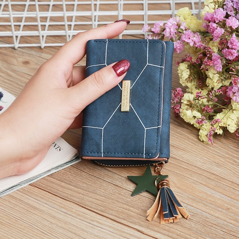 fashion stripe pattern wallet NHLAN337350's discount tags