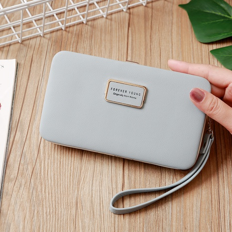 Korean letter long wallet NHLAN337351's discount tags