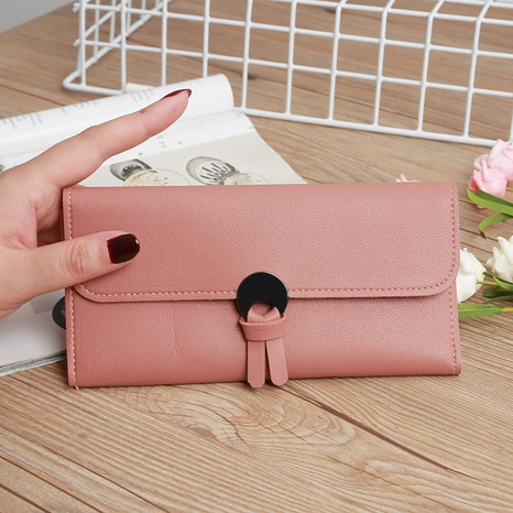 Korean multi-card metal buckle clutch NHLAN337352's discount tags