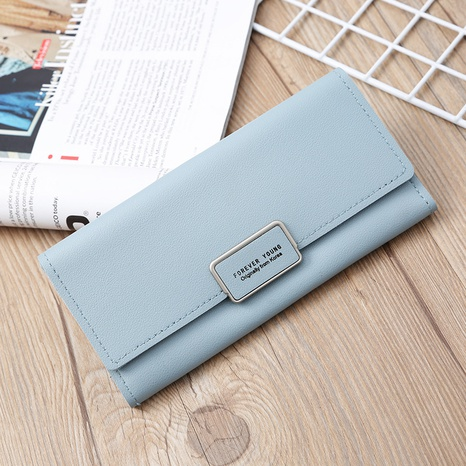 Korean multi-card metal buckle clutch wholesale NHLAN337356's discount tags