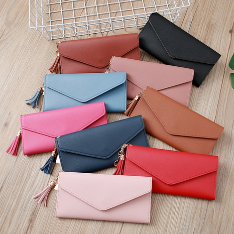 Korean tassel buckle bag NHLAN337360's discount tags