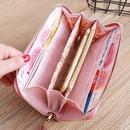 Korean lychee pattern trangle buckle wallet NHLAN337363