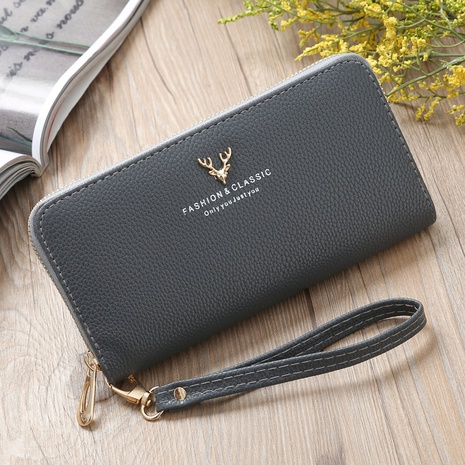 Korean deer head large-capacity wallet NHLAN337365's discount tags