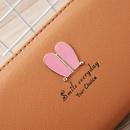 Korean rabbit ear zipper long wallet  NHLAN337368