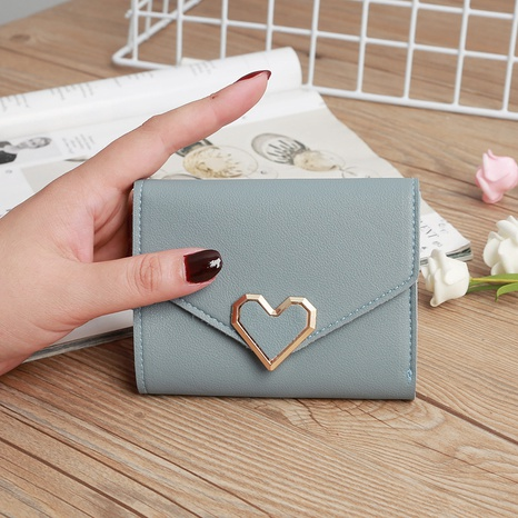 retro three-fold heart-shaped buckle wallet NHLAN337369's discount tags