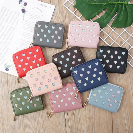 Korean hollow glitter heart coin purse  NHLAN337370's discount tags