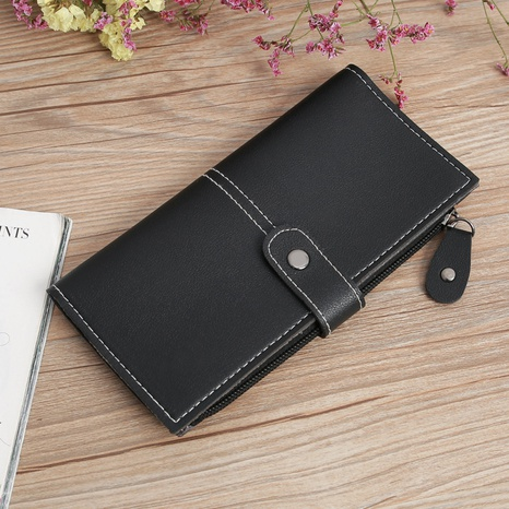 Women's multi-function zipper multi-card position buckle zipper wallet NHLAN337378's discount tags