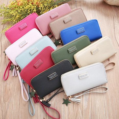 Korean letters elongated ladies wallet large-capacity portable tassel wallet NHLAN337380's discount tags