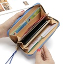 Korean zipper wallet ladies cross pattern bow clutch bag  NHLAN337384
