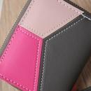 Koreanische Mnzgeldbrse Kartenetui farblich passendes geometrisches Muster Schlsseletui NHLAN337388