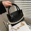 Korean shoulder bag pearl chain mini messenger bag NHRU337393