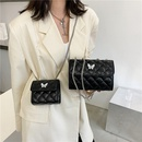 Fashion messenger bag rhombus embroidery thread chain square bag NHRU337398