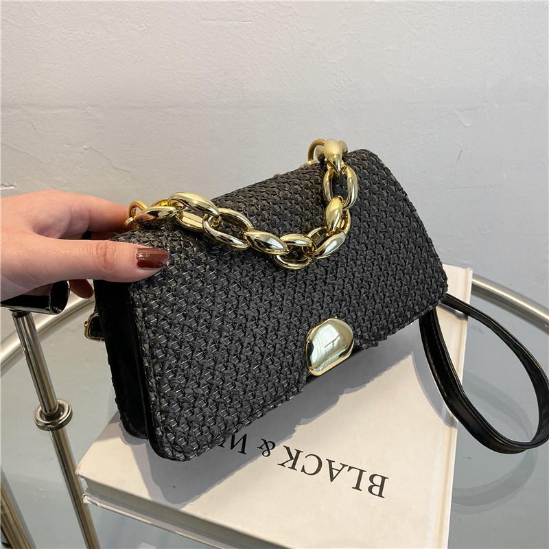 Koreanische Stroh gewebte Tasche kleine quadratische Tasche Flut NHRU337408