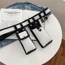 Fashion bungee mobile phone vertical hit color waist bag NHRU337415