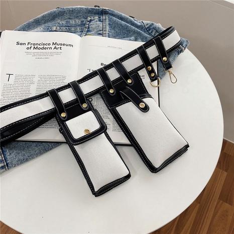 Bolso de la cintura del color del golpe vertical del teléfono móvil del amortiguador auxiliar de la moda NHRU337415's discount tags