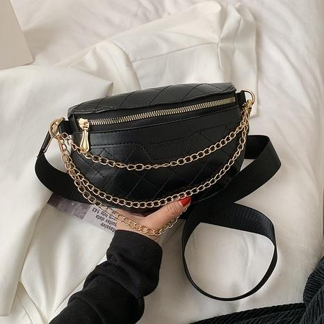 Bolso de pecho casual coreano bolso de cintura de cadena bolso de mensajero de rombo NHRU337424's discount tags