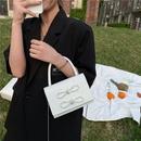 Crocodile pattern portable small square bag fashion bow chain shoulder bag NHRU337427