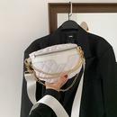 Womens casual wide strap chest bag rhomboid embroidery thread bag NHRU337430