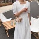 Fashion envelope bag pearl portable woven rattan woven straw mini bag  NHJZ337441