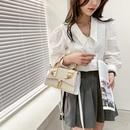 Fashion handbag straw woven small square bag silk scarf woven shoulder bag NHJZ337449