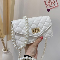 Mode tragbare Umhängetasche kleine Perle hängende quadratische Tasche NHJZ337456