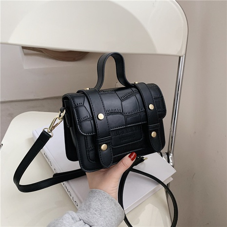Petit sac carré portable d'épaule de messager de modèle de pierre de mode NHLH337489's discount tags