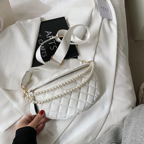 Bolso de la cintura del hombro de la perla del rombo de la moda NHLH337538's discount tags