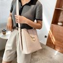 Womens largecapacity bucket bag shoulder messenger bag NHJZ337598