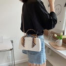 Portable polka dot silk scarf bow knot shoulder bag NHJZ337617