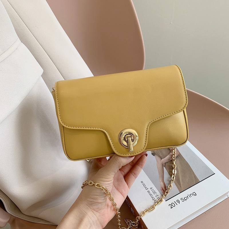Womens fashion shoulder bag solid color small square bag NHJZ337620