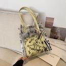 Large capacity jelly transparent bag single shoulder bag tote bag NHJZ337622