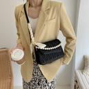 Womens Fashion Lingge Handbag Messenger Bag Small Square Bag NHJZ337638