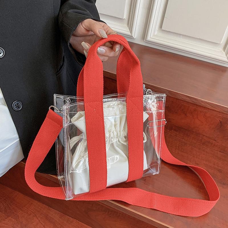 fashion transparent broadband messenger bag NHWH337648