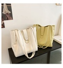 simple solid color largecapacity bucket bag  NHWH337651
