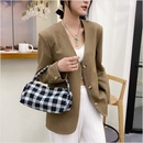 Retro plaid handbag wholesale NHWH337656